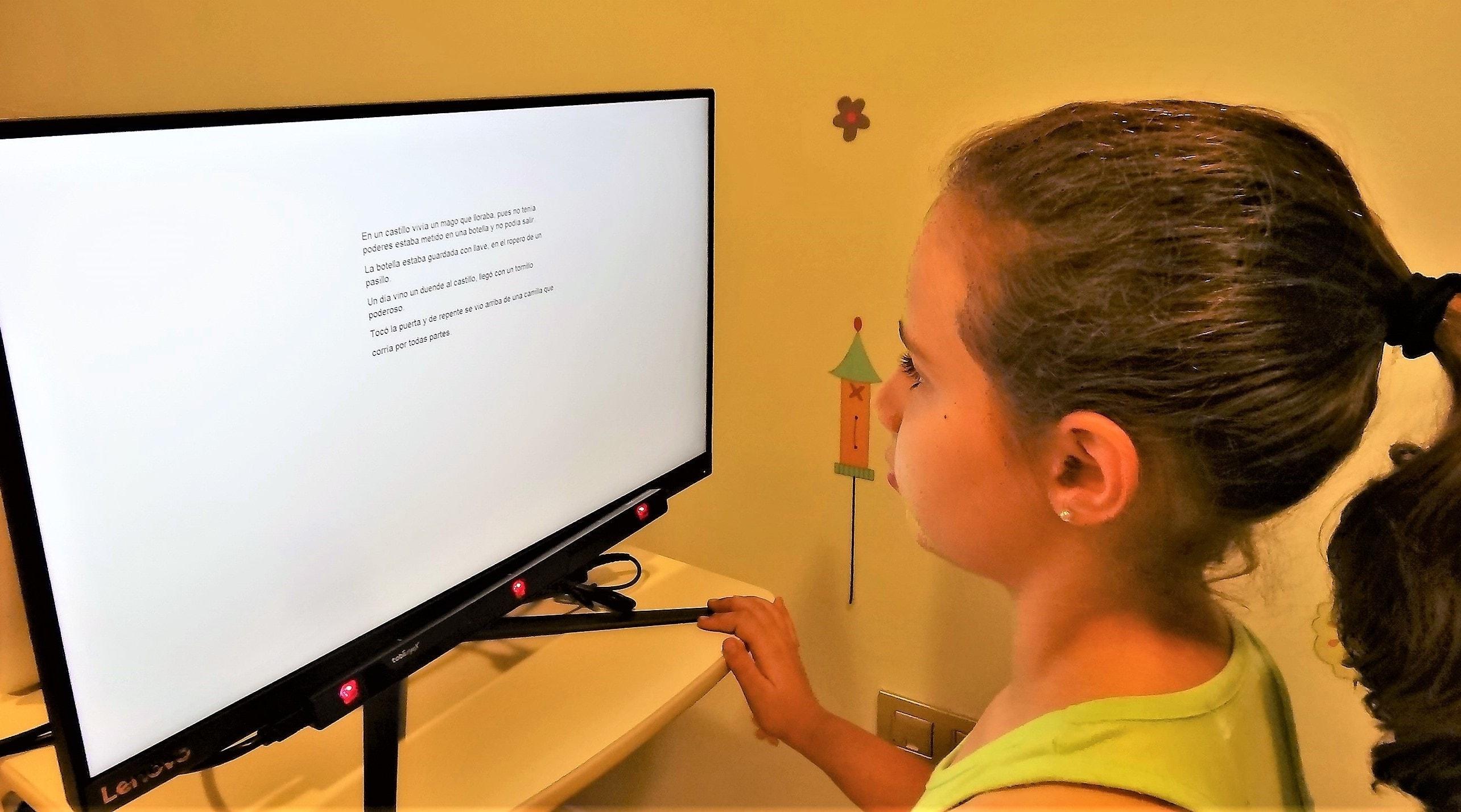 Tecnología eye-tracker, se pierde cuando lee