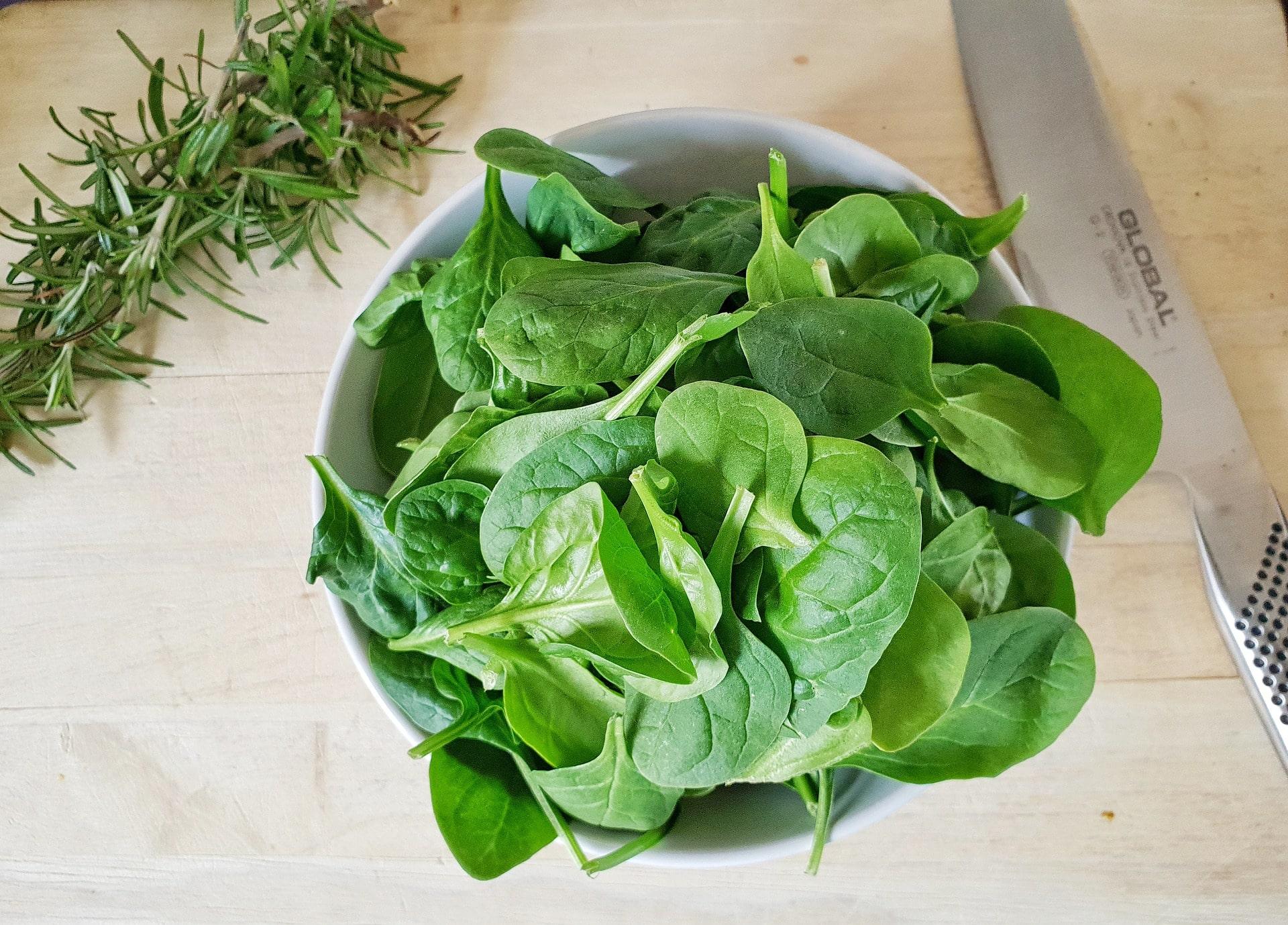 Espinacas, alimentos buenos para la visión